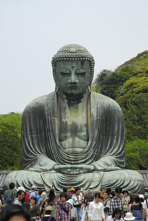 One of the more popular giant Buddah statues located in Kamakura, Japan.