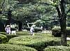 Two Gardeners with Rakes, Kenrokuen Garden, Kanasawa,Japan