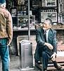 Two Men Talking, Kenrokuen Garden, Kanasawa, Japan
