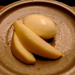 Dessert - Pear and yuzu sherbet
