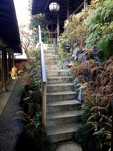Stairs to bath house