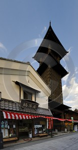 Kawagoe Old Time Bell Saitama Japan City Landscape Photography Art Printing Stock Winter - 016341 - 15-10-2008 - 4773x9174 Pixel