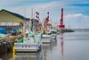 Fishing boats in the port of Kushiro Subprefecture, Hokkaido, Japan.