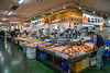 Indoor display of seafood at the Fish Market in Kushiro City, Subprefecture, Hokkaido, Japan