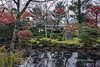 Pavilion and pond with fall leaves, Kiyomizudera, Kyoto Japan