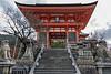 Nio-mon (Gate of the two Nio guardians), main gate to Kiyomizudera Buddhist temple, Kyoto, Japan