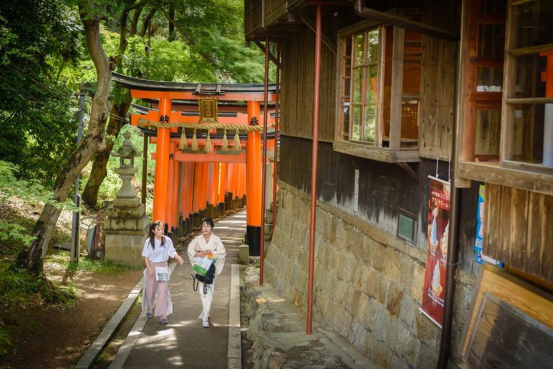 Women Walking at Fushimi Inari Shrine