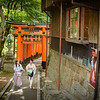 Women Walking at Fushimi Inari Shrine