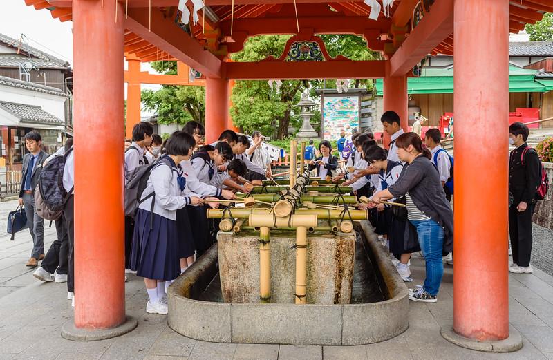 Water Blessing Before Entering the Shrine