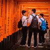 Boys in the Torii Gates