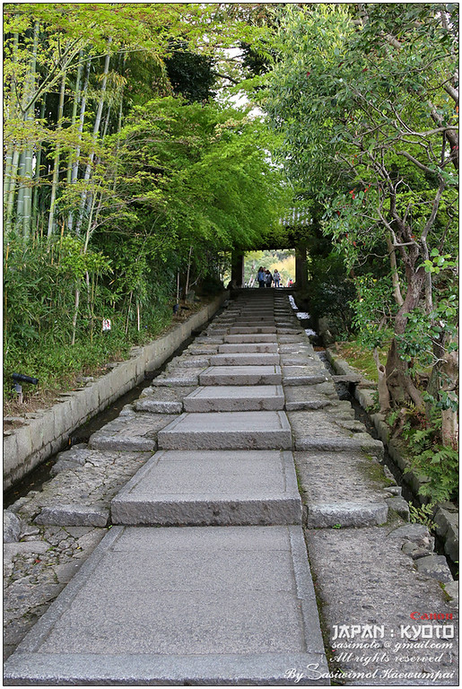 Daidokoro-zaka stone steps that connects Neneno-michi Rd. and Kodai-ji temple, Higashiyama-ku, Kyoto