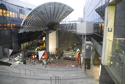 Kyoto Station has Japan's second-largest train station building and is one of the country's largest buildings, incorporating a department store, hotel, theater, game center, shopping mall, government offices, various restaurants and an observation deck can be found on the facility's 15+ floors.