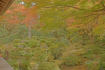 Wide angle shot of Yusei-en Garden captured in HDR