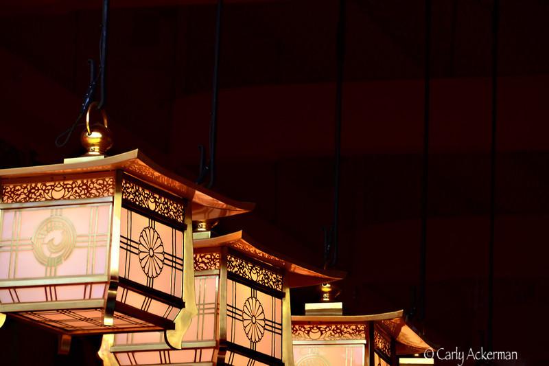 Evening Lanterns at Fushimi Inari
