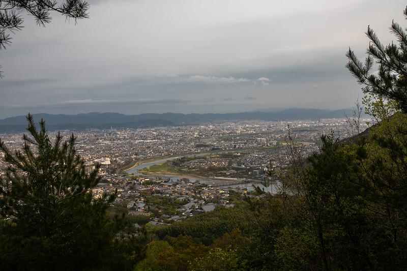 near over seeing Kyoto - Arashiyama Bamboo Forest