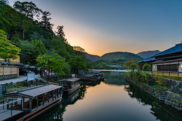 Dusk on the Katsura River