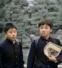 Male Students, Fieldtrip, Golden Pagoda, Kyoto, Japan