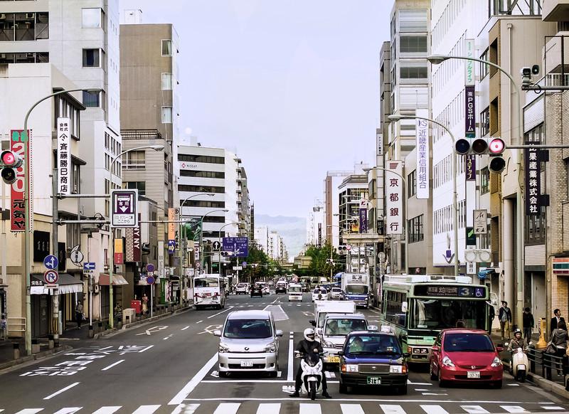 Traffic Light, Downtown, Kyoto, Japana