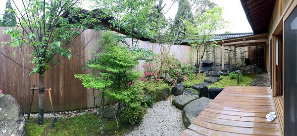 Our private garden and deck