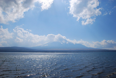 Lake Yamanaka, and off in the distance, Fuji-san...  (C) 2008 Brian Neal