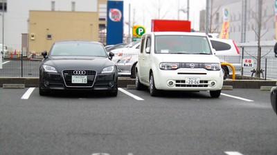 Audi TT vs Nissan Cube