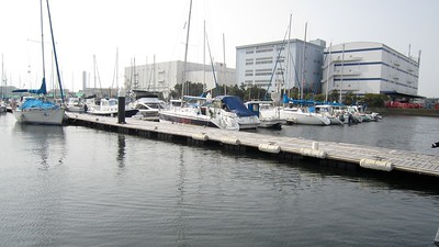 Today we headed to Yokohama to help a friend clean and paint his sailboat