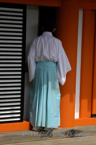 Shinto Priest - Miyajima