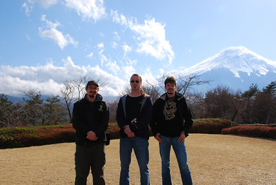 Jon, Brent, & Brian at Mt. Fuji