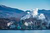 Industrial refinery on Uchiura Bay, Muroran, Hokkaido, Japan.