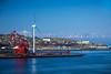 The port of Muroran and Uchiura Bay, Muroran, Hokkaido, Japan.