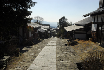 Here is a view from the top of one of the popular areas in Magome along the historical trade route.