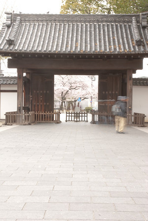 The main Black Gate (Kuro-mon) that leads into the Ōzone Shimoyashiki where the garden is located