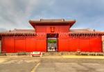 The Koufukumon Gate at the Shurijo Castle in Naha, Okinawa, Japan.