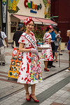 MIss Okinawa at a community promotion event in Naha, Okinawa, Japan.