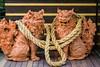 Ornamental Shisa lion/dog in the Pottery Village of Naha, Okinawa, Japan.