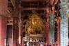 The bronze Buddha in the Hall of the Great Buddha in Nara Park and Tōdai-ji Temple, Nara Prefecture, Honshu Island, Japan.