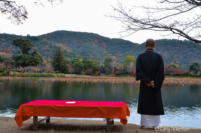 A Pensive Moment at Daikokuji Temple