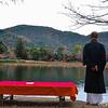 A Pensive Moment at Daikokuji Temple