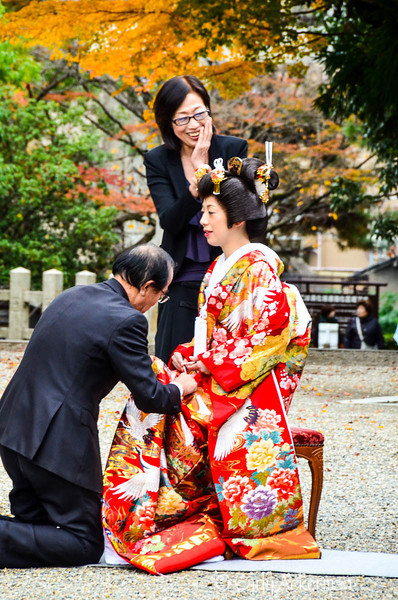 Wedding Day at Gion Jinja