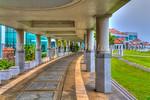 The Okinawa Prefectural Peace Memorial Museum in Itoman, Okinawa, Japan.