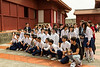 A group of Japanese students at the Shurijo Castle in Naha, Okinawa, Japan.