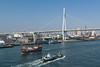 The Tempozan Bridge in Osaka, Japan.