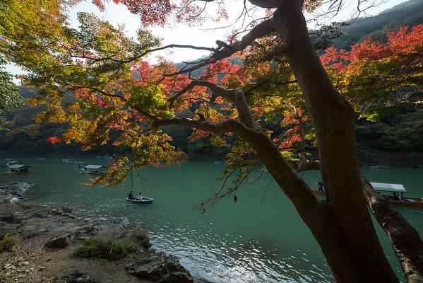 Boating on the Hozu River