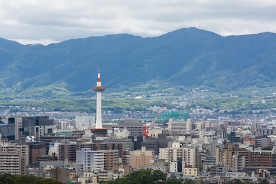 Kyoto tower viewed from Kiyomizu-dera