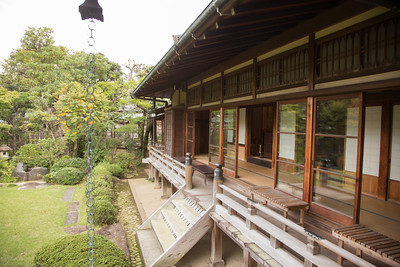The guest house has a beautiful veranda from which the garden can be viewed.
