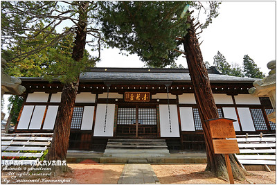 Sogenji Temple Hondo - built using a type of shoin-zukuri architecture known as shuden-zukuri and orginally located in Sannomaru of Takayama Castle, this building is said to have been relocated to the family temple of Samurai Nagachika Kanamori