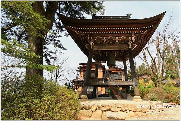 The bell tower of Tenshoji Temple (Heavenly temple). Youth hostel for foreign backpackers is adjacent to this temple