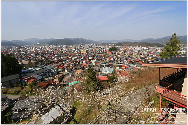 A view of Northern Japanese Alps and city of Takayama, from our room