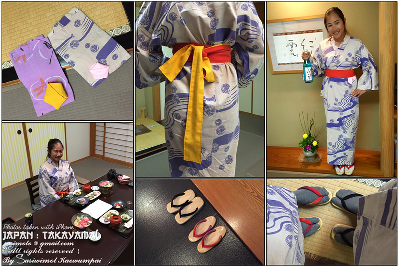 Yukata Robes (for his and hers were arranged). The Yukata can be worn at home, stroll around the hotel.. You can fold the left side over the right side. Obi should be worn around your waist and fasten into a bow. .. and if the temperature gets too low, you can wear Haori, a thicker cloth, over Yukata.
