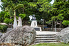 A memorial statue on Taketomi Island, Okinawa Prefecture, Japan.